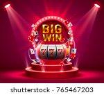 big win slots 777 banner casino....   Shutterstock .eps vector #765467203