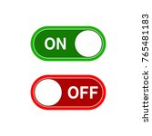 toggle switch  on and off... | Shutterstock .eps vector #765481183