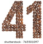 arabic numeral 41  forty one ... | Shutterstock . vector #765501097