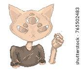 pixel brooding creepy three... | Shutterstock .eps vector #765502483
