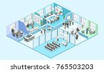 isometric flat 3d abstract... | Shutterstock .eps vector #765503203
