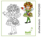 autumn fairy girl in a wreath... | Shutterstock .eps vector #765504283