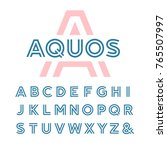 linear font. alphabet with... | Shutterstock . vector #765507997