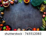 flat lay of organic ingredients....