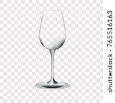 transparent glass  on a... | Shutterstock .eps vector #765516163