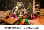 friend fun and happy in... | Shutterstock . vector #765528607