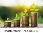 stept growing plant with money... | Shutterstock . vector #765533317