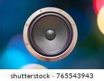 speaker dynamic on the night... | Shutterstock . vector #765543943