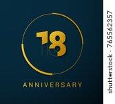 18 year anniversary vector logo ...