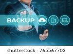 backup storage data internet... | Shutterstock . vector #765567703