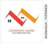 real estate logo   house logo   ... | Shutterstock .eps vector #765568633