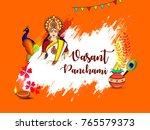 indian festival vasant panchami ... | Shutterstock .eps vector #765579373