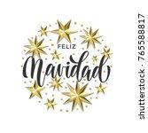 feliz navidad spanish merry... | Shutterstock .eps vector #765588817