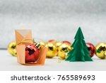 christmas decoration on... | Shutterstock . vector #765589693