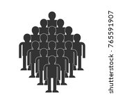 crowd of people icon. throng... | Shutterstock .eps vector #765591907
