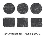 vector grunge shapes.grunge... | Shutterstock .eps vector #765611977