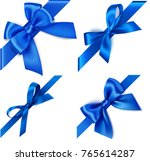 set of decorative blue bows... | Shutterstock .eps vector #765614287