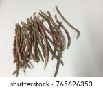 pile of organic purple beans ... | Shutterstock . vector #765626353