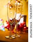 glasses of champagne   Shutterstock . vector #765633457