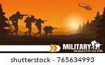military vector illustration ... | Shutterstock .eps vector #765634993
