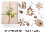 classy christmas gifts box... | Shutterstock . vector #765671257