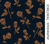 vector seamless pattern with... | Shutterstock .eps vector #765673813