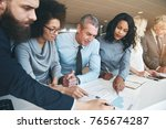 black and white group of people ... | Shutterstock . vector #765674287