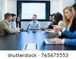 picture of business meeting in... | Shutterstock . vector #765675553