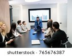 picture of business meeting in... | Shutterstock . vector #765676387