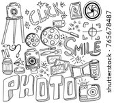 photo doodles hand drawn... | Shutterstock .eps vector #765678487
