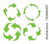 green square recycle icons set. ... | Shutterstock .eps vector #765680407