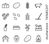 thin line icon set   greenhouse ...   Shutterstock .eps vector #765681247