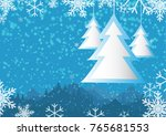 christmas theme background with ... | Shutterstock .eps vector #765681553