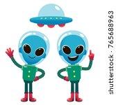 vector illustration of aliens... | Shutterstock .eps vector #765688963