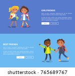 girlfriends and best friends... | Shutterstock .eps vector #765689767