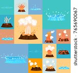 Concept Of Active Volcano And...