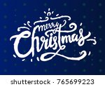 merry christmas. happy new year ... | Shutterstock .eps vector #765699223