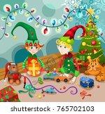 christmas vector illustration | Shutterstock .eps vector #765702103