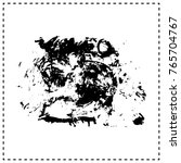 black brush stroke and texture. ... | Shutterstock .eps vector #765704767