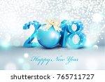 vector illustration.3d blue... | Shutterstock .eps vector #765711727