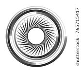 sacred geometry symbol. vector... | Shutterstock .eps vector #765715417