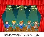 vector illustration of children ... | Shutterstock .eps vector #765722137