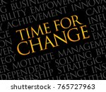 time for change word cloud ... | Shutterstock . vector #765727963
