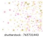 Rose Gold Flying Stars Confett...