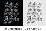 big sale discount lettering... | Shutterstock .eps vector #765735487