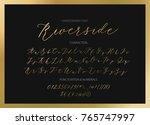 riverside   handwritten script... | Shutterstock .eps vector #765747997