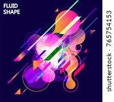 fluid color background. liquid... | Shutterstock .eps vector #765754153