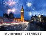 explosive fireworks display... | Shutterstock . vector #765755353