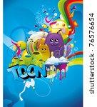 abstract cartoon character... | Shutterstock .eps vector #76576654