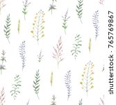watercolor seamless pattern of... | Shutterstock . vector #765769867
